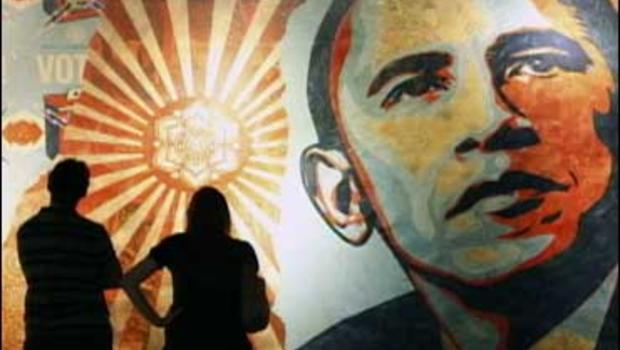 Artist Shepard Fairey created the iconic campaign poster image of Barack Obama.