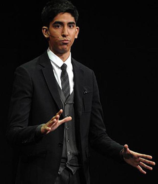 """Slumdog Millionaire"" star  Dev Patel speaks at the the Nickelodeon 2009 upfront presentation, in New York, on Thursday, March 12, 2009. (AP)"