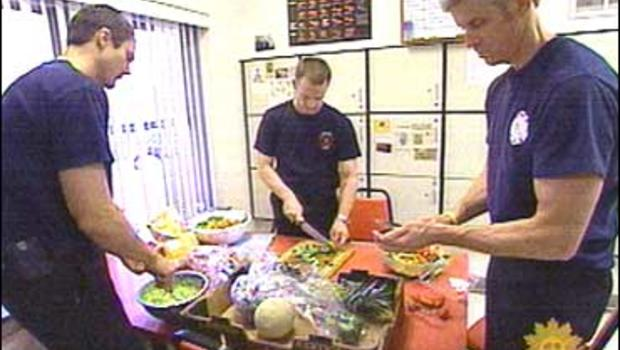 Firefighters at Engine Company 2 in Austin, Texas enjoy a meat-free diet.