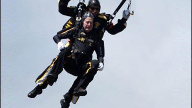 George H. W. Bush parachute jump