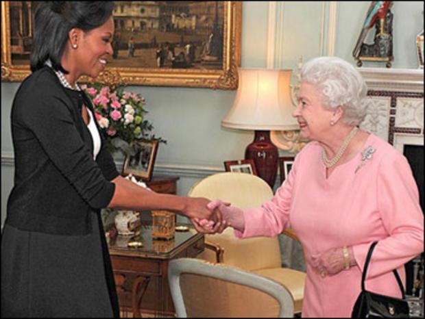 Michelle Obama Queen Elizabeth II