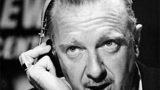 CBS television newscaster Walter Cronkite.
