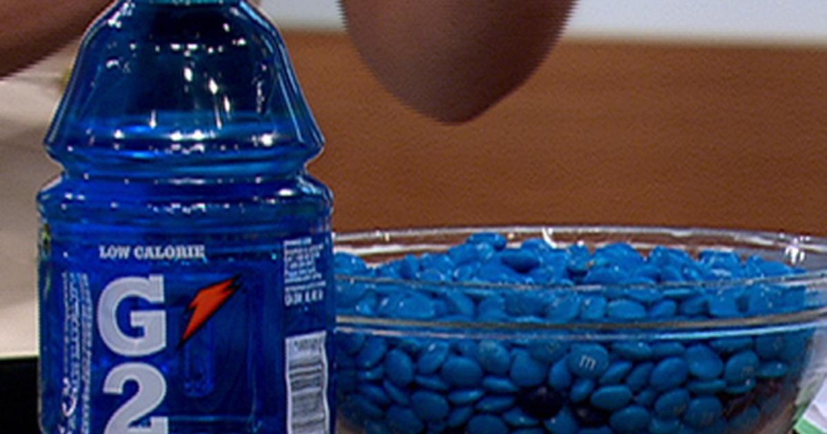 amount of blue dye in gatorade