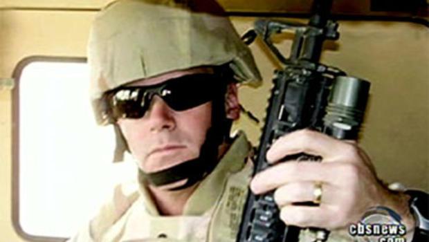Reserve Lt. Col. Darrel Vandeveld is seen serving in Iraq