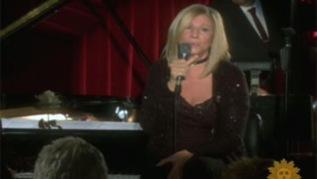 Barbra Streisand performs at New York's Village Vanguard, Sept. 26, 2009.