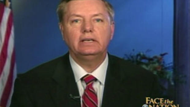 "Sen. Lindsey Graham (R-S.C.) on ""Face the Nation."""