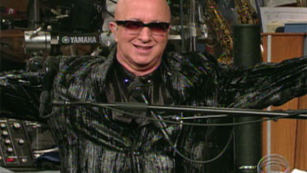 "Paul Shaffer, leader of the CBS Orchestra on ""Late Show with David Letterman."""