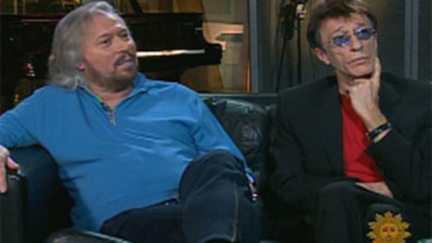 Barry and Robin Gibb, of the Bee Gees.