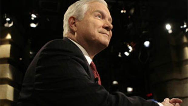 """Defense Secretary Robert Gates talks about Afghanistan for the Sunday, Dec. 6, 2009, broadcast of """"Face the Nation."""""""