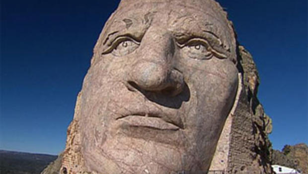 The Crazy Horse Memorial in South Dakota is still a work in progress.