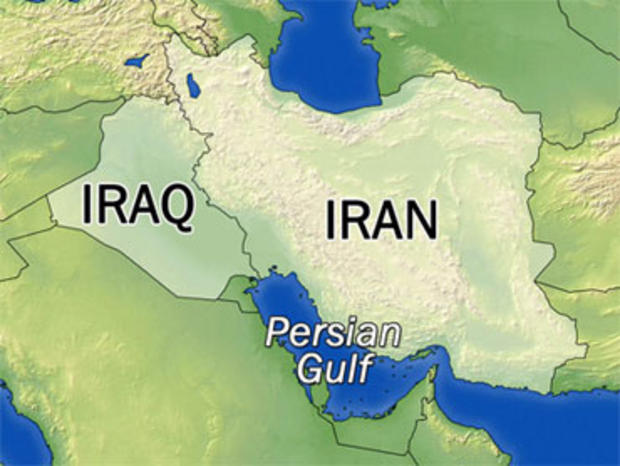 Map of Iran, Iraq