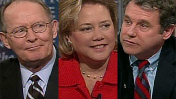 "Sen. Lamar Alexander, R-Tenn., Sen. Mary Landrieu, D-La., and Sen. Sherrod Brown, D-Ohio, on ""Face the Nation,"" Sunday, December 20, 2009."