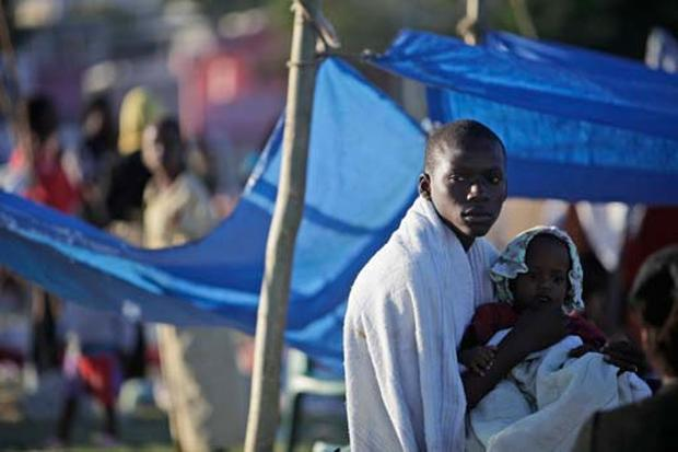 Haitians Seek Shelter