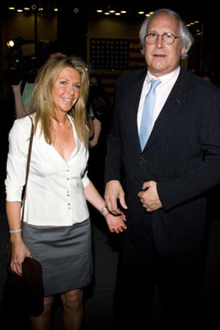 Chevy Chase and Wife Jayni at New York Auction - Celebrity ...