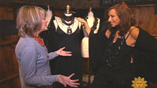 Fashion designer Donna Karan, with Rita Braver