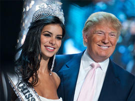 Donald Trump and Rima Fakih, winner of the Miss USA 2010 Pageant, on May 16, 2010, in Las Vegas. (Photo by Tom Donoghue/PictureGroup)