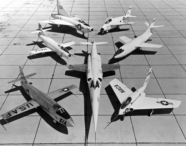 X-Plane group shot (1953) - X-Planes: The world's fastest