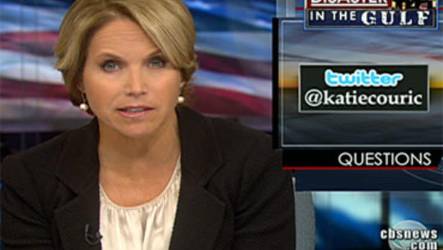 Katie Couric answers a viewer question submitted via Twitter about the oil spill in the Gulf of Mexico.