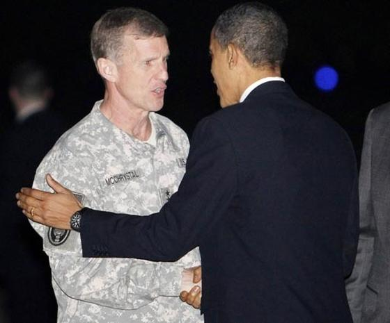 General McChrystal and President Obama