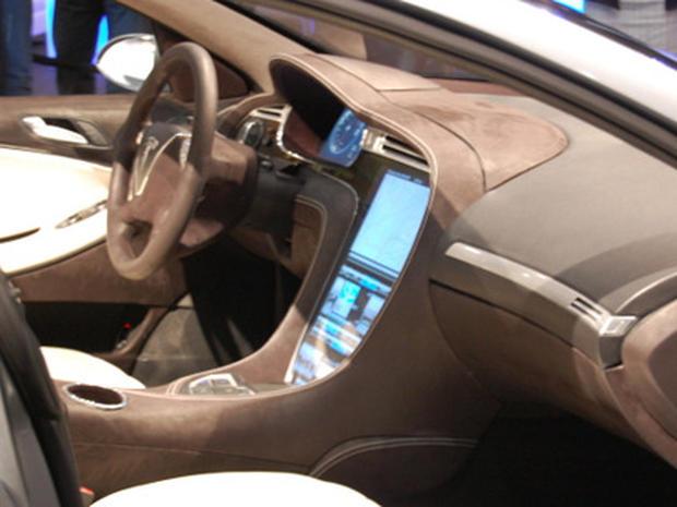 Images of Tesla's S Electric Sedan