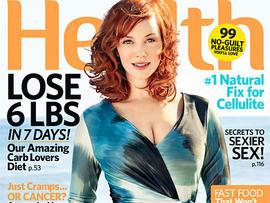 Christina Hendricks on July cover of Health magazine. (Health)