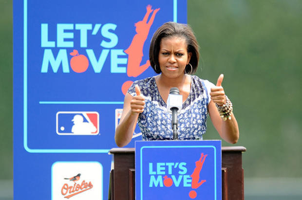 Michelle Obama Plays Ball