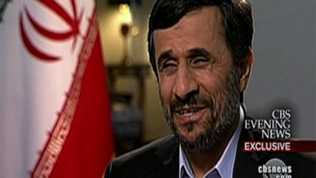 Iranian President Mahmoud Ahmadinejad in an exclusive interview with CBS News, July 26, 2010.