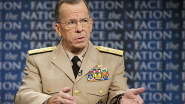 """Adm. Michael Mullen, Chairman of the Joint Chiefs of Staff, discusses the war in Afghanistan with Harry Smith on """"Face the Nation,"""" August 1, 2010."""
