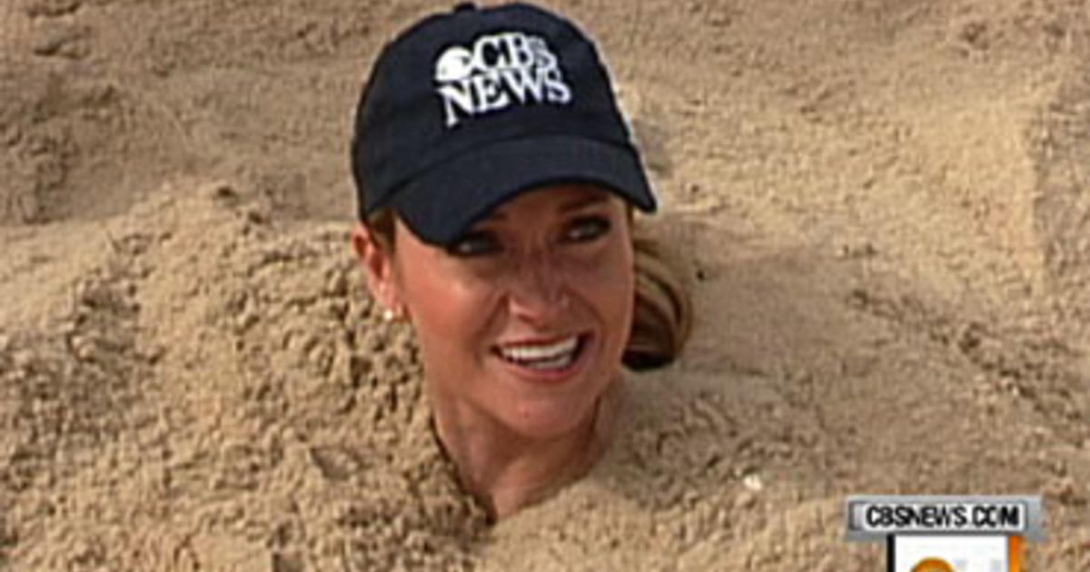 Beach Sand Digging Dangers Cbs News