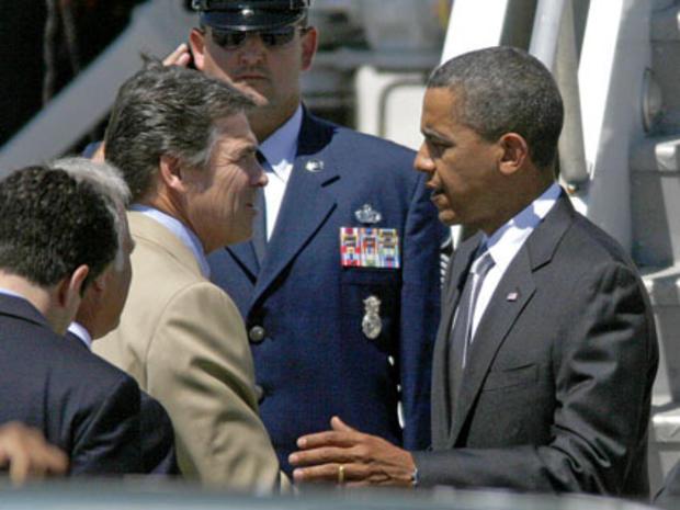 Barack Obama, Rick Perry