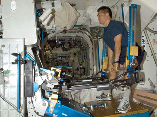 Astronaut using ARED