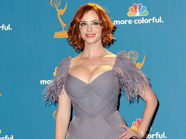 c6bb7e3503d1 Christina Hendricks Makes a Splash In Lavender at The Emmys - CBS News