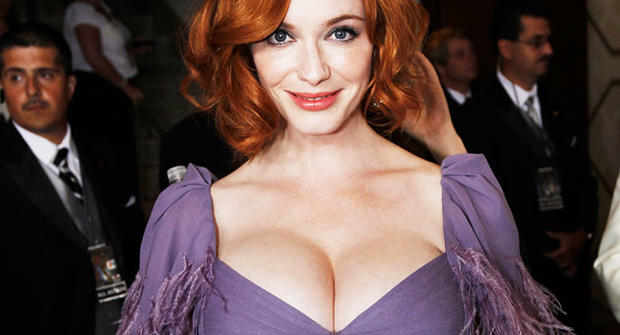 Christina Hendricks is seen backstage during the 62nd Primetime Emmy Awards Sunday, Aug. 29, 2010, in Los Angeles.