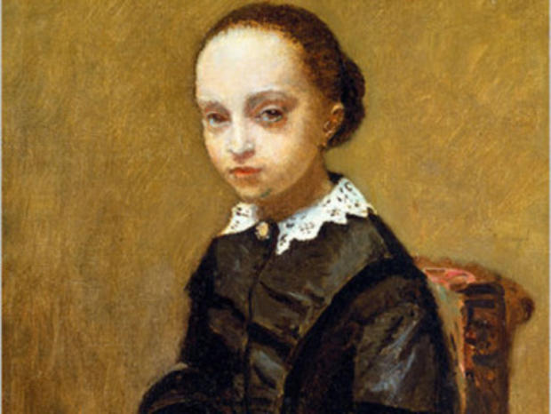 "The missing painting, ""Portrait of a Girl"" by Jean-Baptiste-Camille Corot."