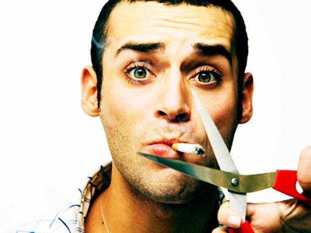 no smoking, scissors, cigarette