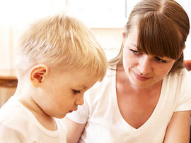 mom, son, sad, no talking, autism