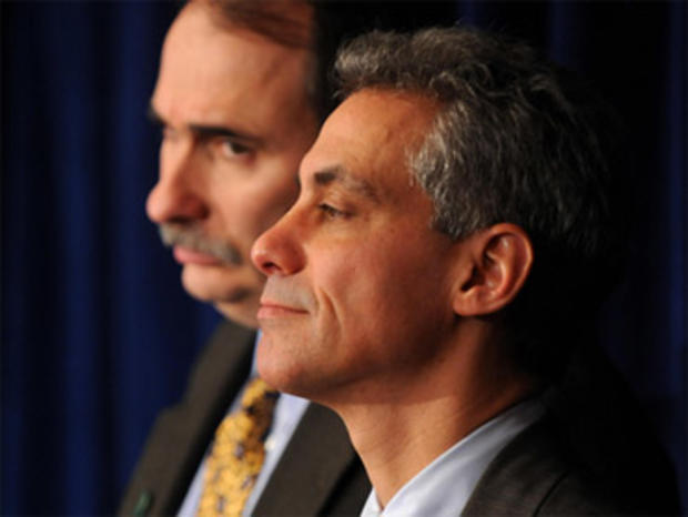 Rahm Emanuel and David Axelrod