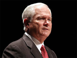 Secretary of Defense Robert Gates speaks at Duke University in Durham, N.C., Wednesday, Sept. 29, 2010. (AP Photo/Jim R. Bounds)