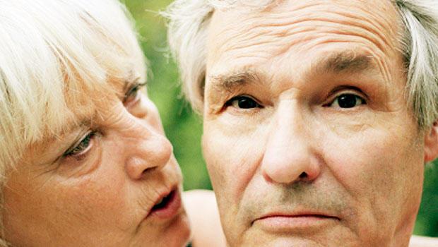 dementia, man, senior, mature, sad, couple, Alzheimer's, generic, wide, 620