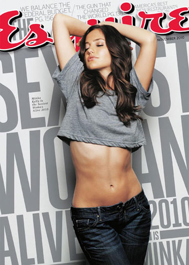Minka Kelly is seen on the cover of Esquire magazine's November 2010 issue.