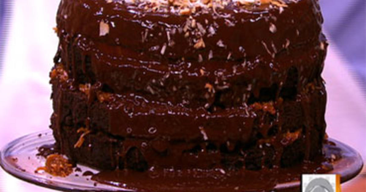 Bobby Flays Decadent German Chocolate Cake Cbs News