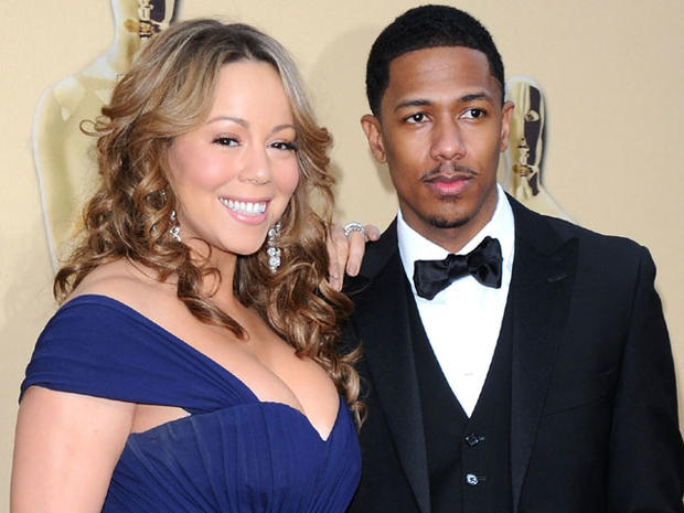 Mariah Carey and Nick Cannon arrive at the 82nd Annual Academy Awards on March 7, 2010, in Los Angeles.