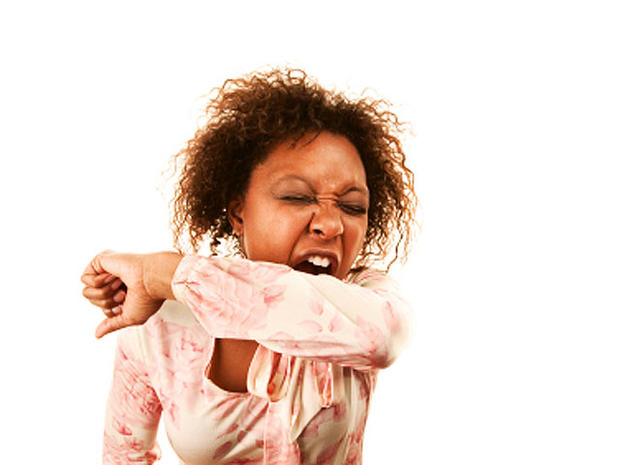 sneeze, elbow, woman, istockphoto, germs, 4x3