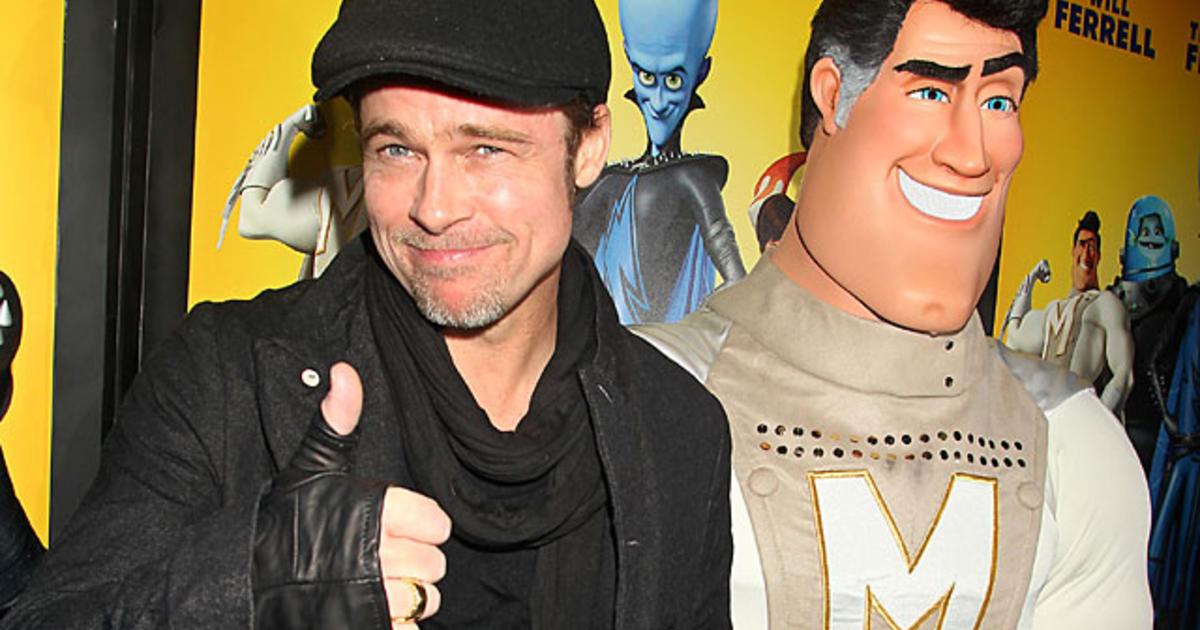 "Megamind"" Premiere: Brad Pitt Takes the Boys - CBS News"