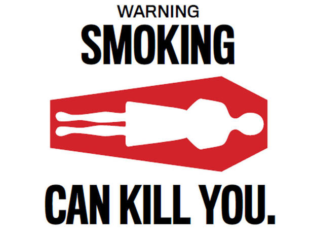 tobacco warning labels New tobacco warning labels proposed by the fda include not just words but some pretty graphic images can smokers be shocked into quittingdead bodies gaunt cancer patients.