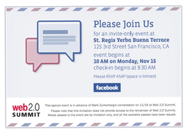 Facebook's invite for its event next week.