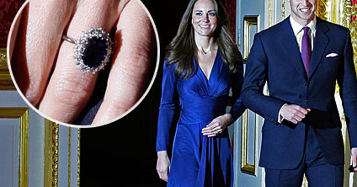 kate middletons engagement ring is princess dianas cbs news - Princess Diana Wedding Ring