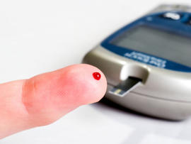 finger, blood, diabetes, blood test, istockphoto, 4x3