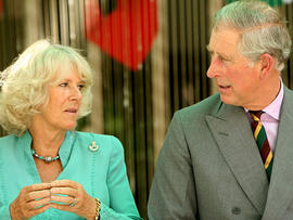 : TRH Prince Charles, Prince of Wales and Camilla, Duchess of Cornwall visit 12 Corps HQ meeting senior officers from regiments. on the fourth and final day of their four day visit to India on October 5, 2010 in Jodhpur, India. Prince Charles opened the Commonwealth Games on behalf of The Queen on October 3, after which Their Royal Highnesses are undertaking a series of engagements throughout India. (Photo by Aditya Kapoor/Getty