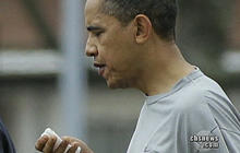 Obama Splits Lip in Basketball Game